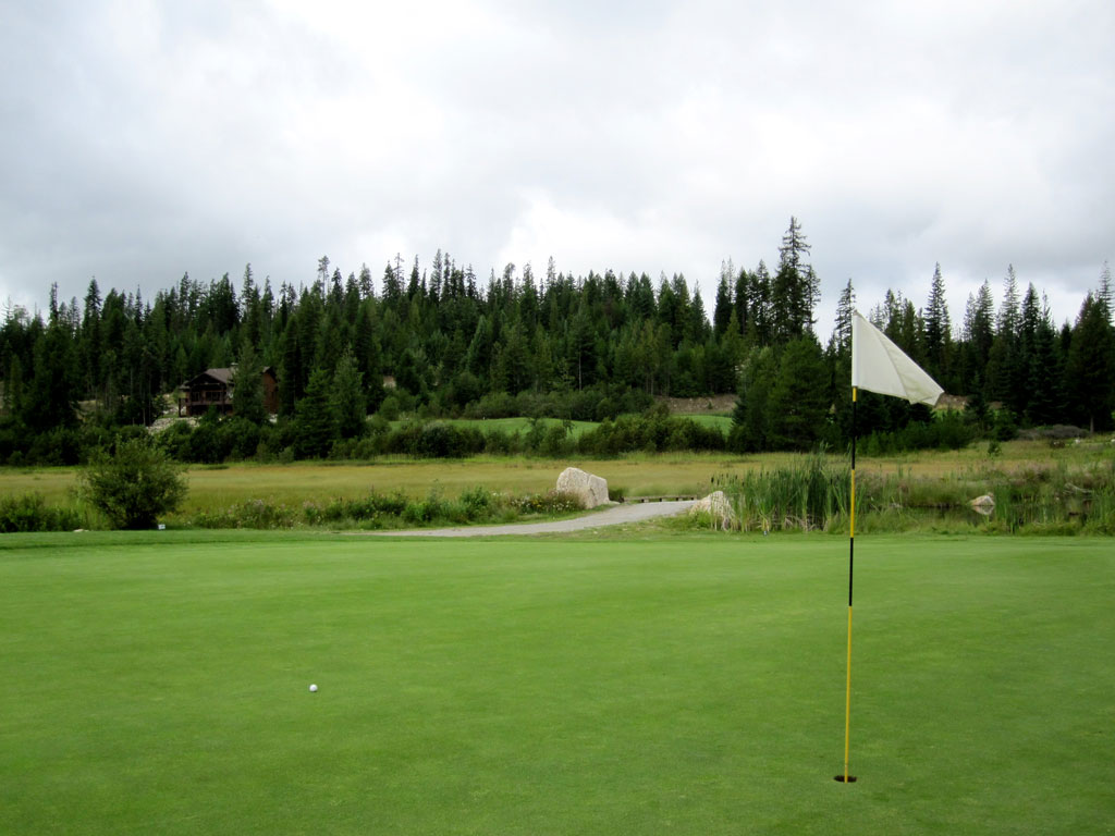15th Hole at Priest Lake Golf Course Hole at Priest Lake (164 Yard Par 3)