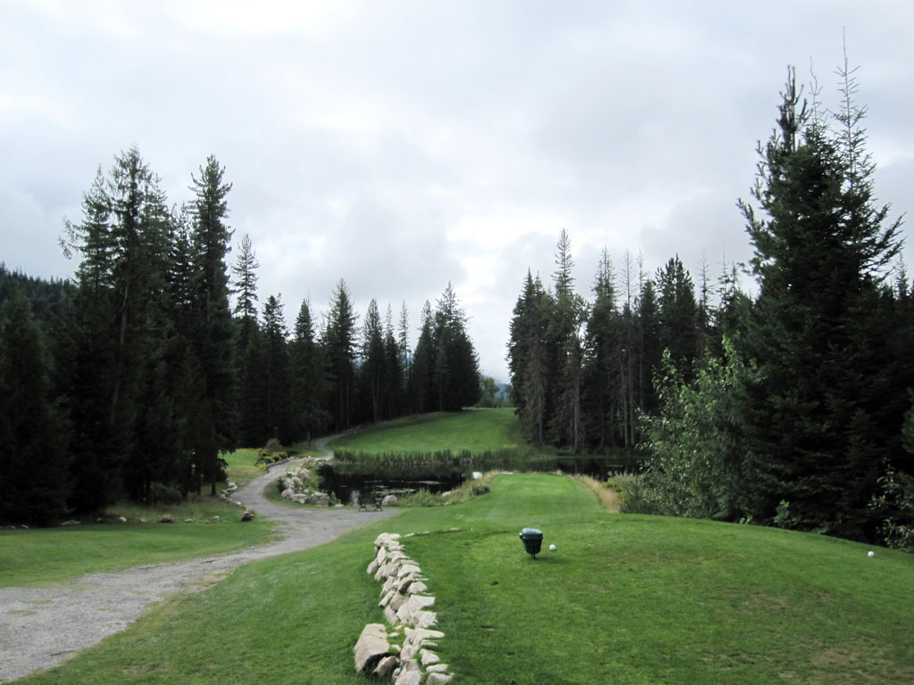 7th Hole at Priest Lake Golf Course Hole at Priest Lake (268 Yard Par 4)