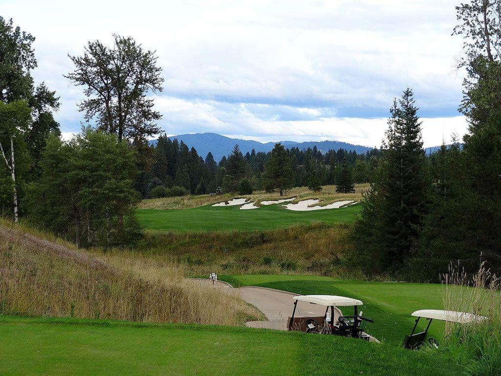 13th Hole at Rock Creek Golf Club Idaho (497 Yard Par 4)