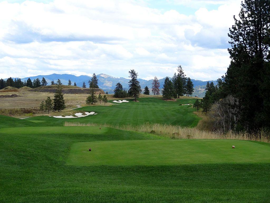 4th Hole at Rock Creek Golf Club Idaho (597 Yard Par 5)