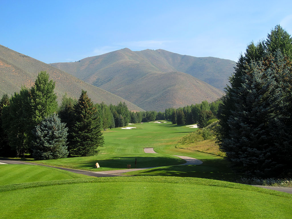 16th Hole at Sun Valley Resort (Trail Creek) (562 Yard Par 5)