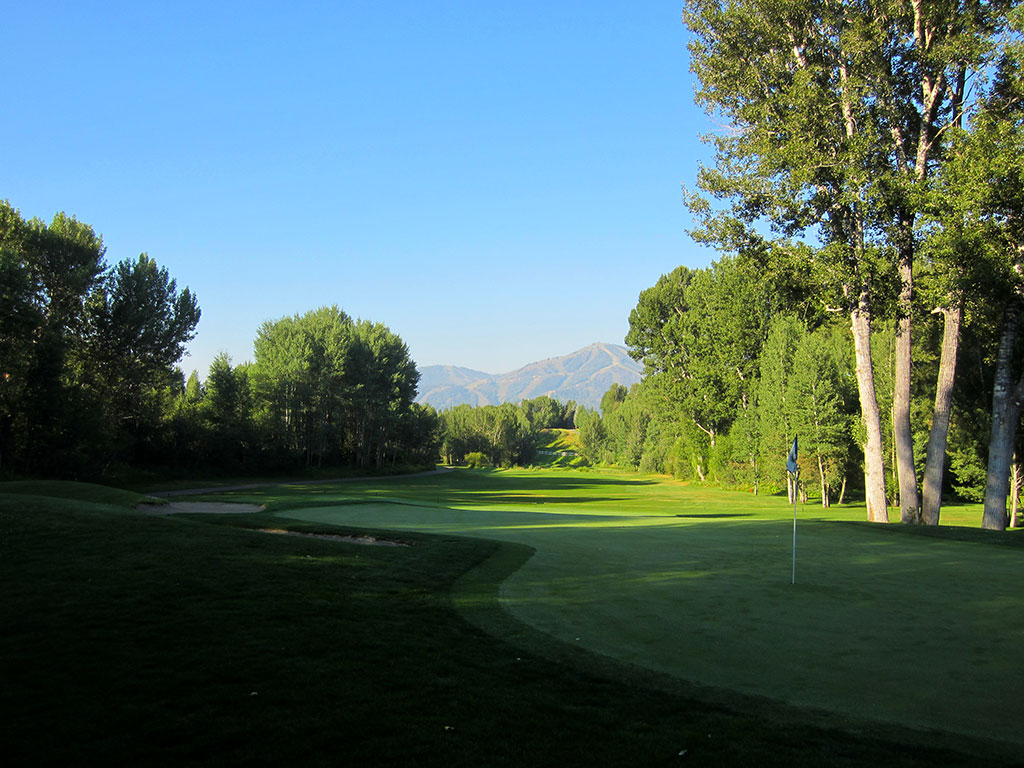 7th Hole at Sun Valley Resort (Trail Creek) (460 Yard Par 4)