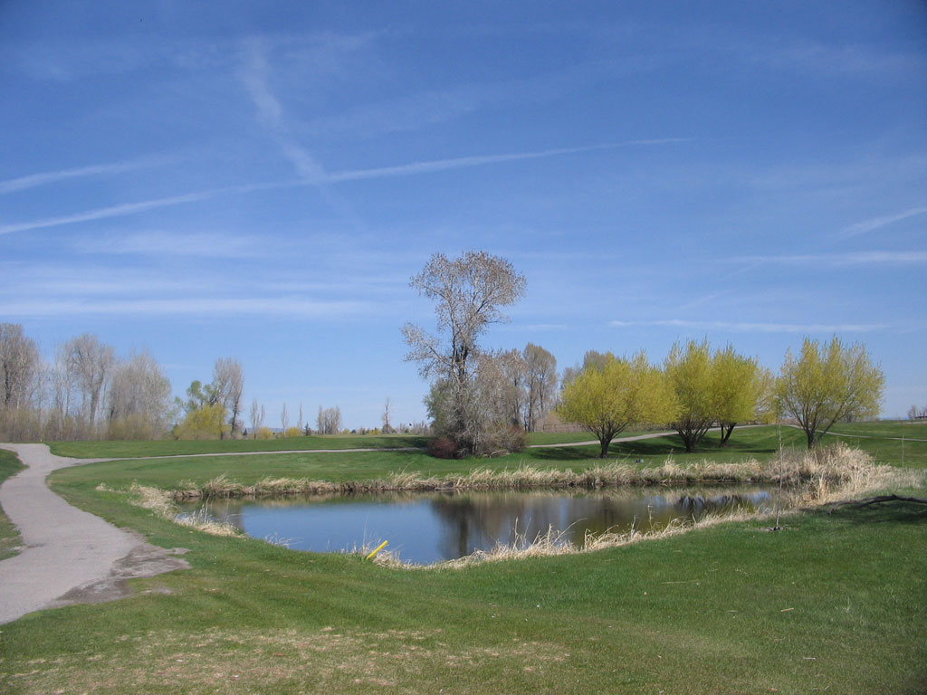17th Hole at Teton Lakes Golf Course (203 Yard Par 3)