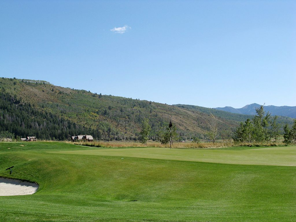 4th Hole at Teton Reserve (144 Yard Par 3)