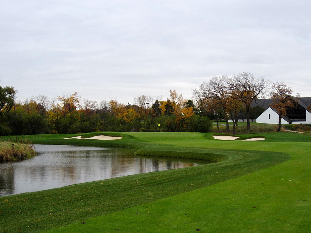 18th Hole at Butler National Golf Club (484 Yard Par 4)