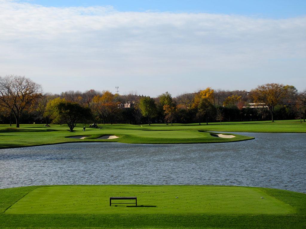 5th Hole at Butler National Golf Club (227 Yard Par 3)