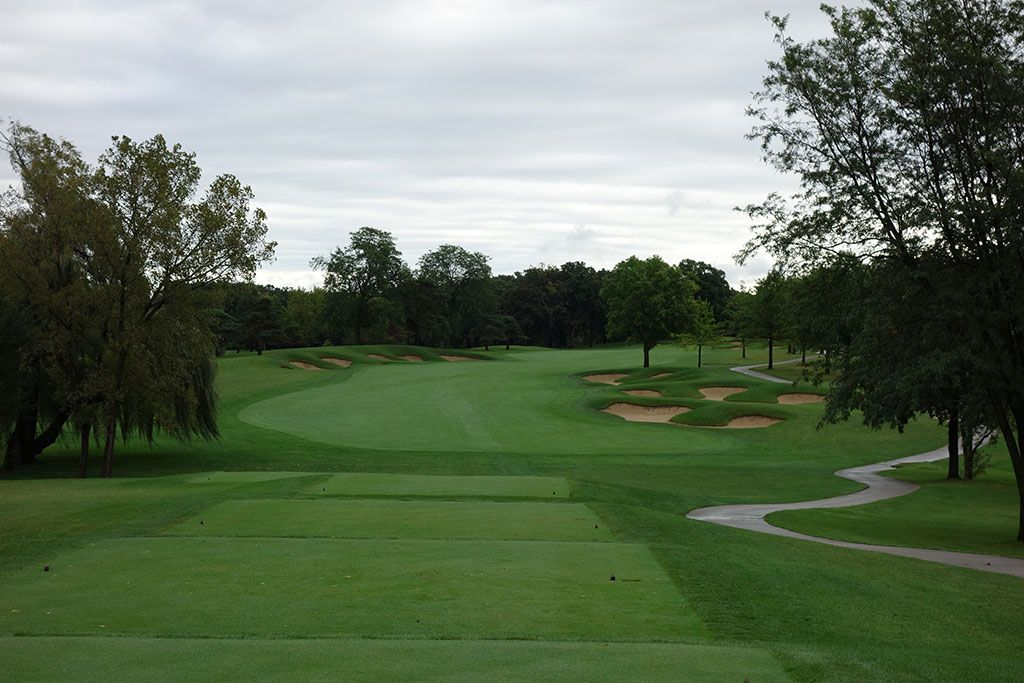 5th Hole at Cog Hill Golf and Country Club (Dubsdread) (507 Yard Par 5)