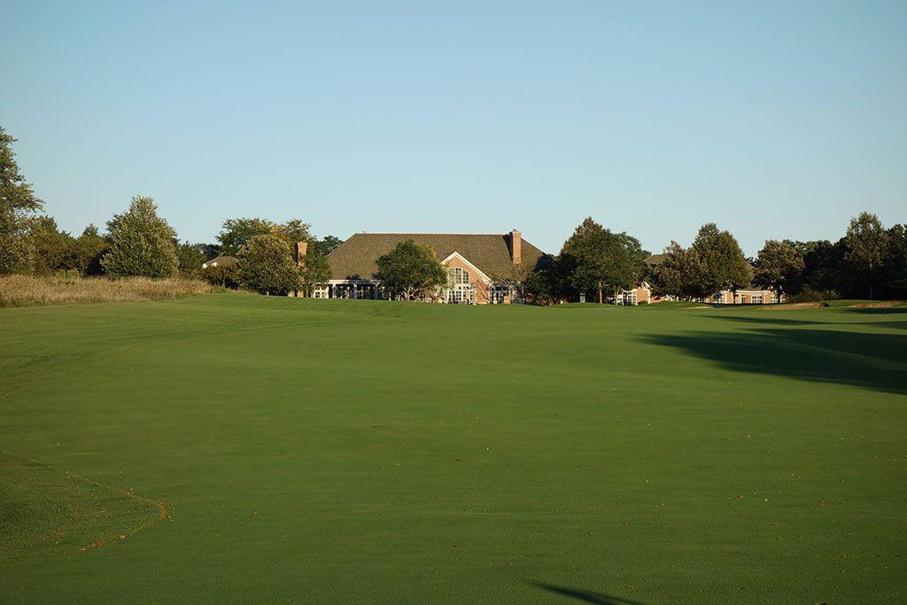 18th Hole at Merit Club (550 Yard Par 5)