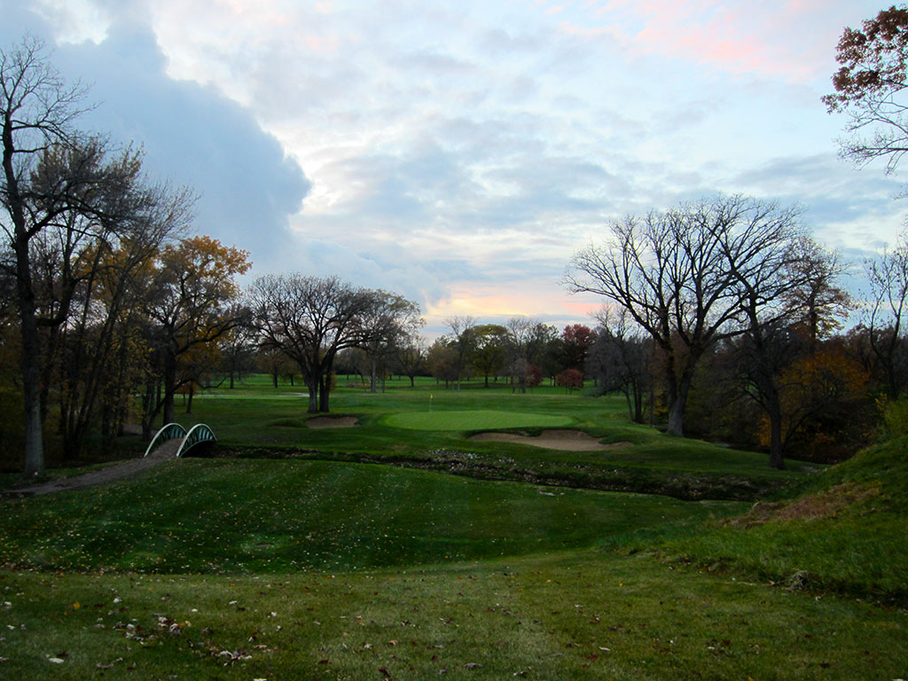 16th Hole at Olympia Fields (North) (215 Yard Par 3)
