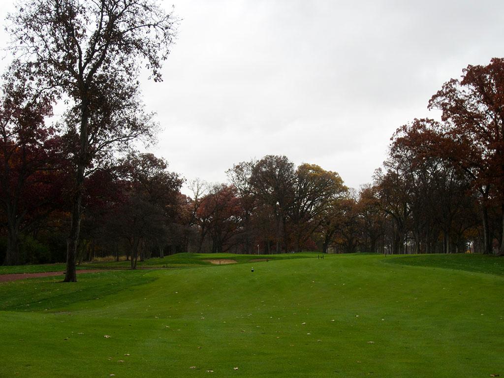 13th (Devil's Elbow) Hole at Rich Harvest Golf Links (462 Yard Par 4)