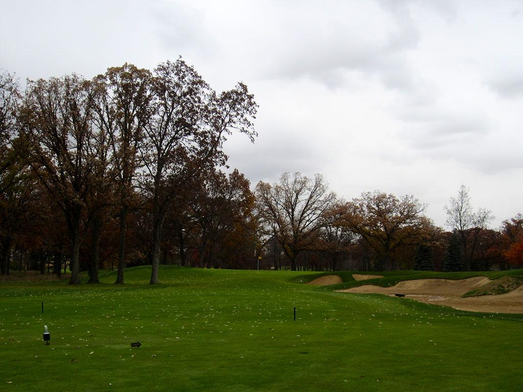 3rd Hole at Rich Harvest Golf Links ( Yard Par 4)
