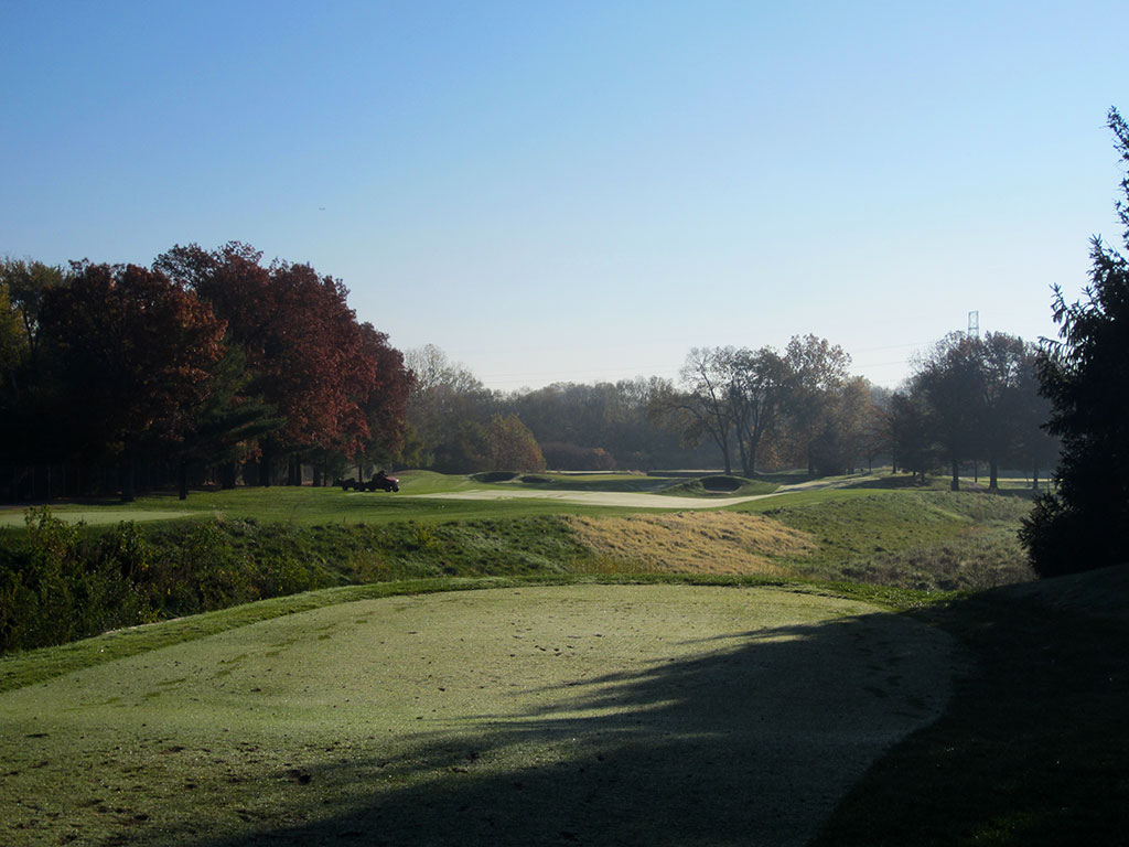 14th Hole at Brickyard Crossing Golf Course (311 Yard Par 4)