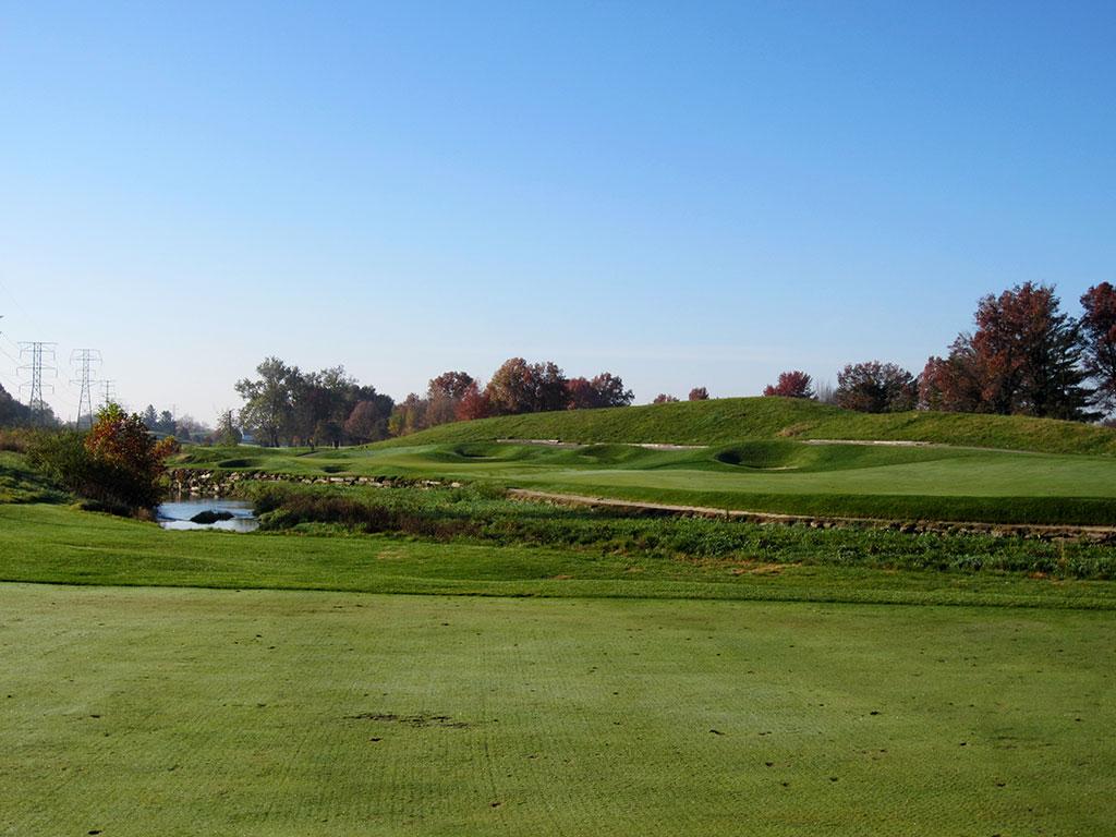 15th Hole at Brickyard Crossing Golf Course (551 Yard Par 5)