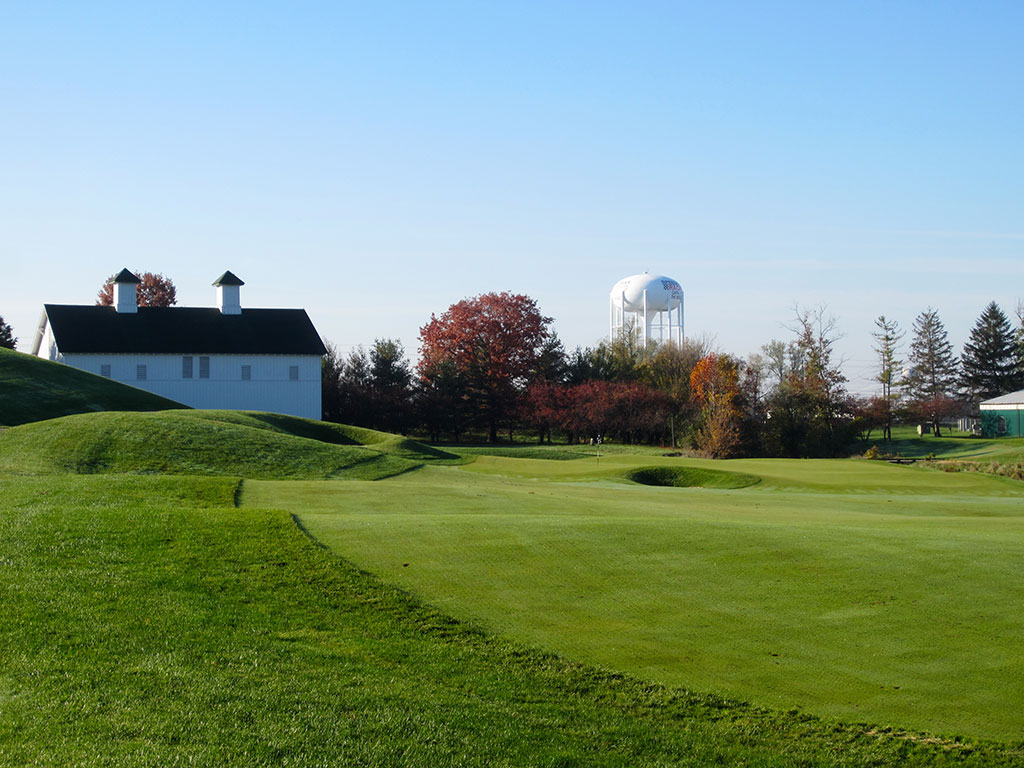 18th Hole at Brickyard Crossing Golf Course (491 Yard Par 4)