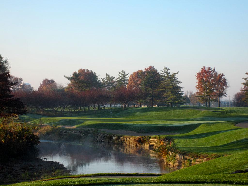 4th Hole at Brickyard Crossing Golf Course (215 Yard Par 3)