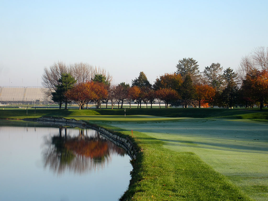 8th Hole at Brickyard Crossing Golf Course (464 Yard Par 4)