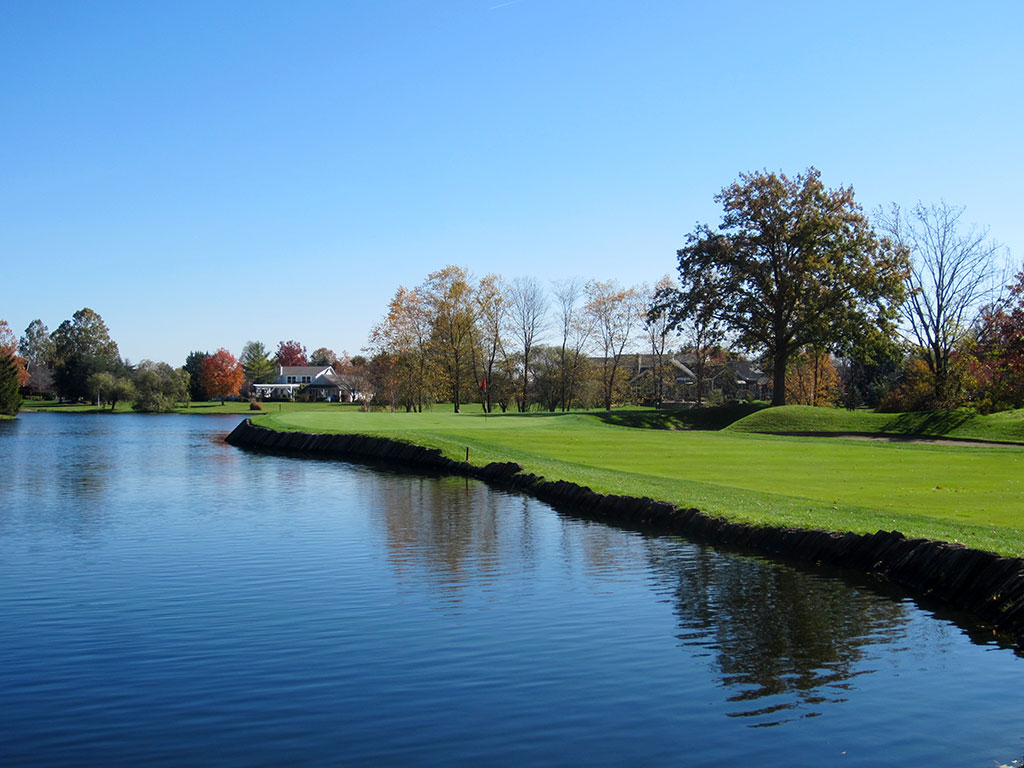 8th Hole at Crooked Stick Golf Club (430 Yard Par 4)