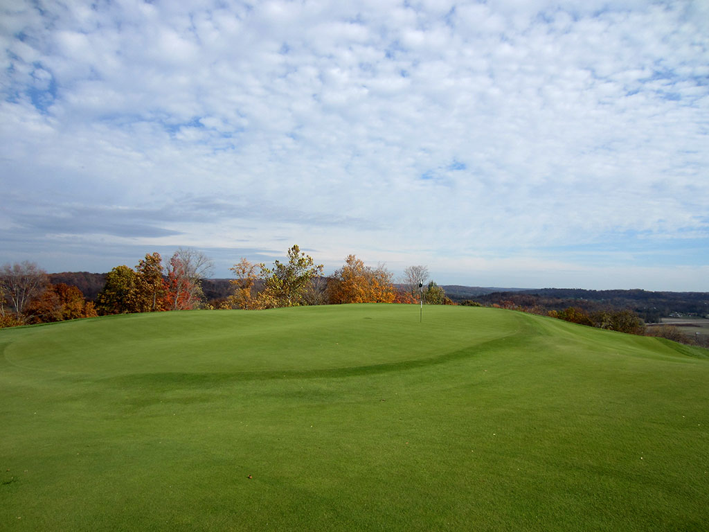 12th Hole at French Lick Resort (Dye) (529/430 Yard Par 4)