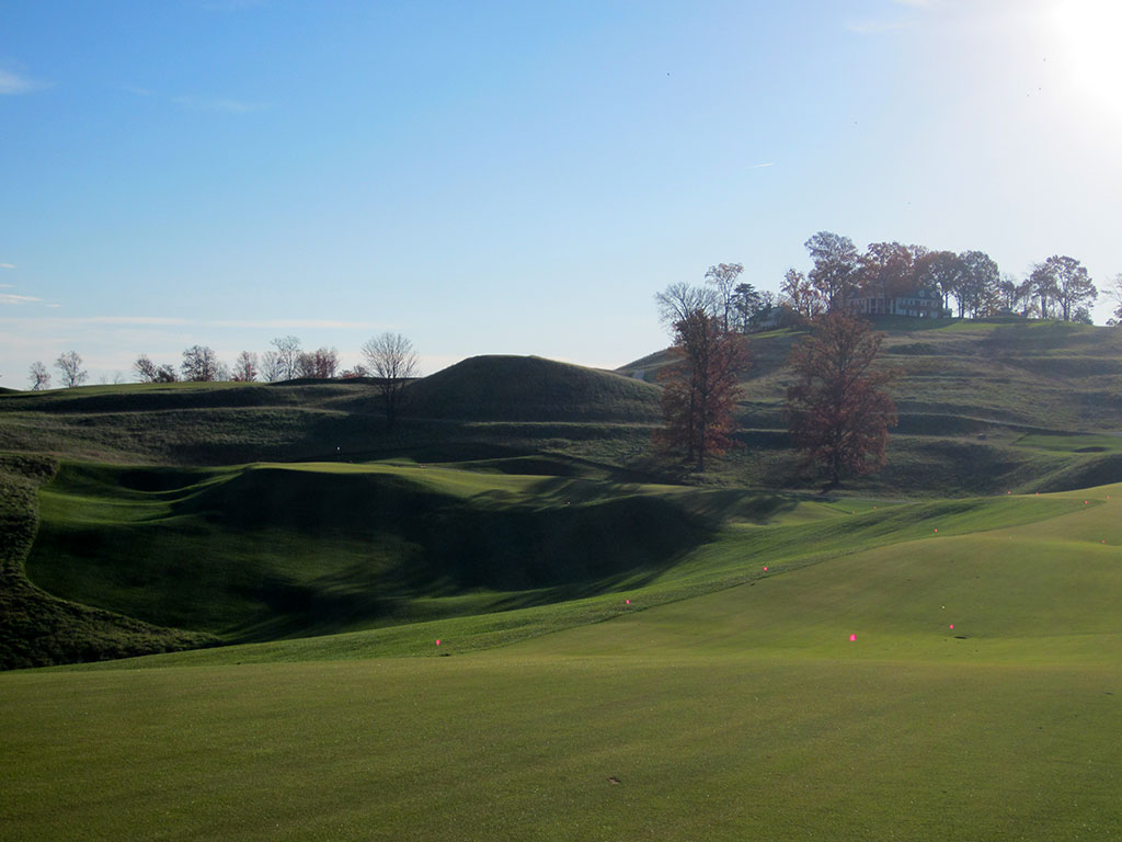 3rd Hole at French Lick Resort (Dye) (641/610 Yard Par 5)
