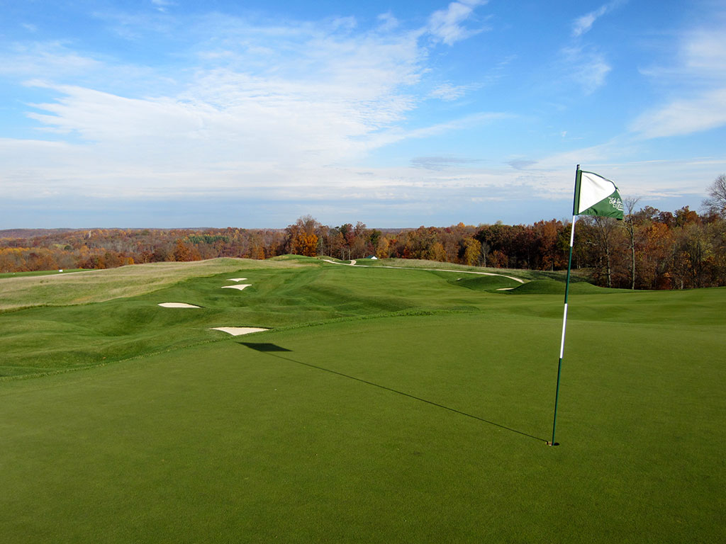 5th Hole at French Lick Resort (Dye) (391/350 Yard Par 4)