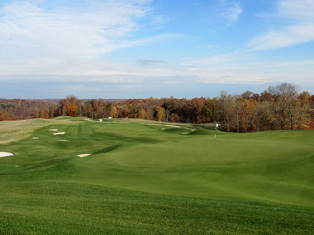 5th Hole at French Lick (Dye) (391/350 Yard Par 4)