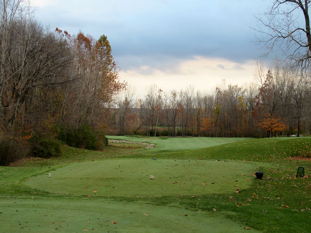 1st Hole at Rock Hollow Golf Course (296 Yard Par 4)