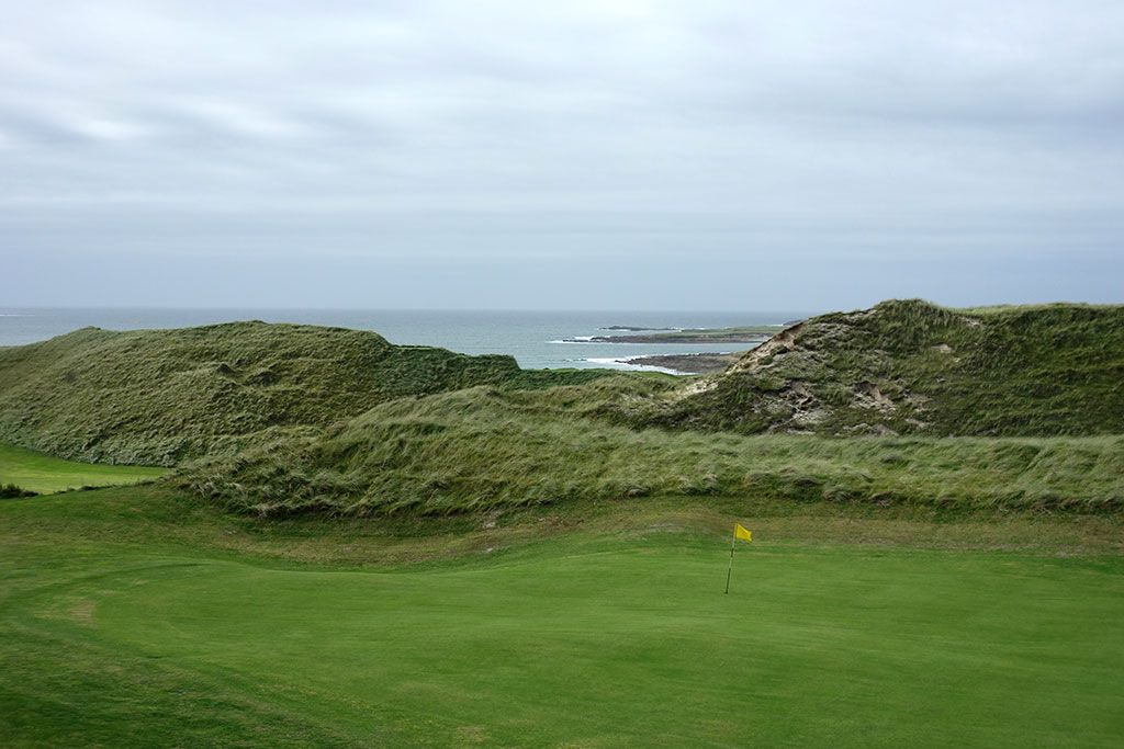 7th (Kilmore) Hole at Carne Golf Links (Hackett 18 and Kilmore 9) (229 Yard Par 3)
