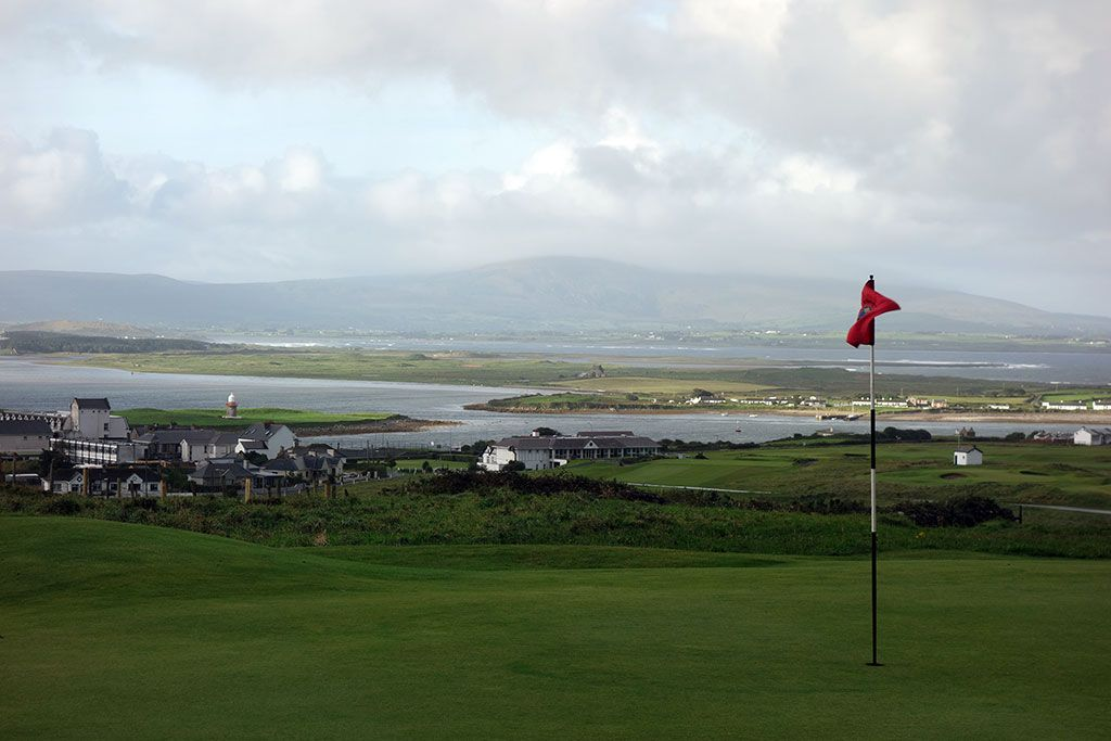 The view from the 2nd green at County Sligo