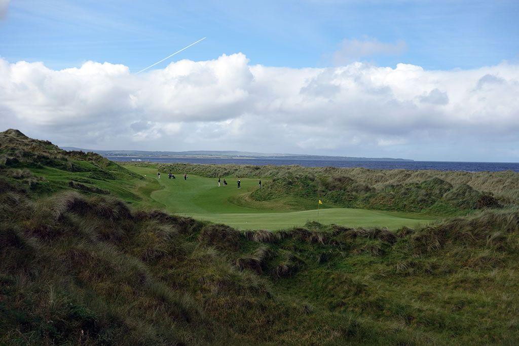 16th Hole at Enniscrone Golf Club (545 Yard Par 5)