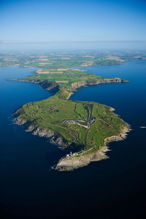 An aerial view of the spectacular Old Head Golf Links
