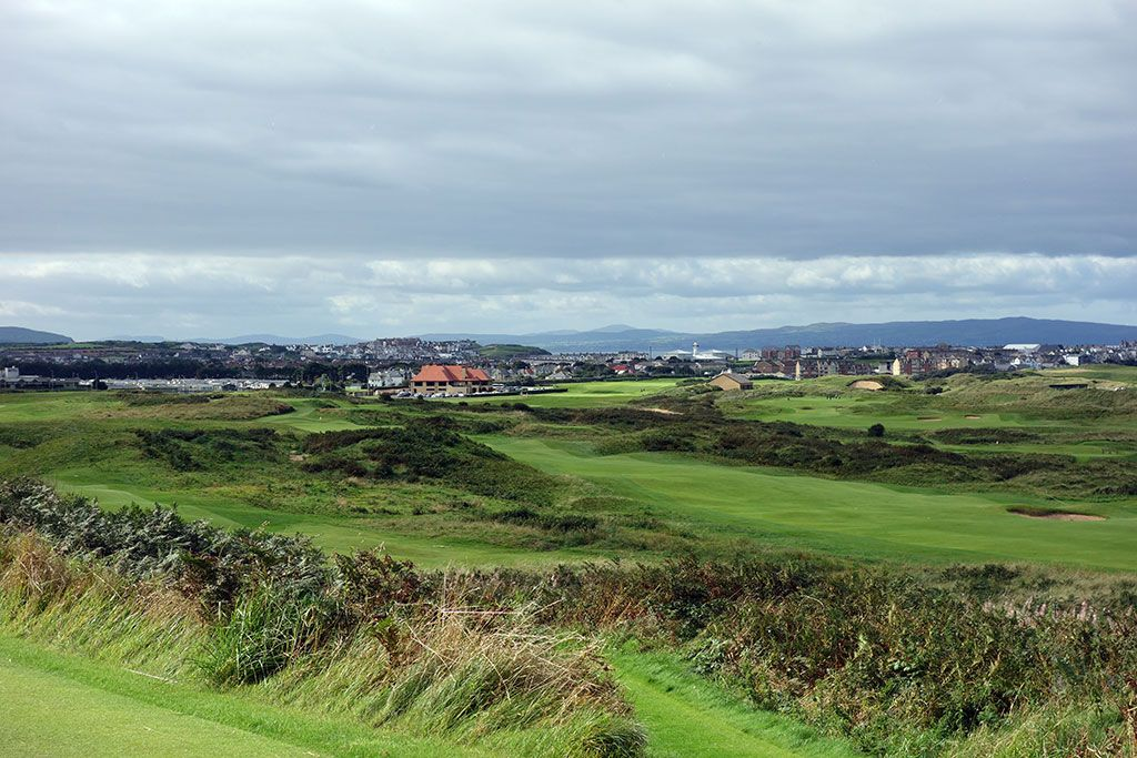 The views across the front nine at Royal Portrush