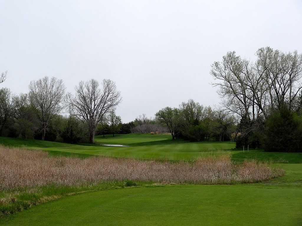9th Hole at Flint Hills National Golf Club (488 Yard Par 4)