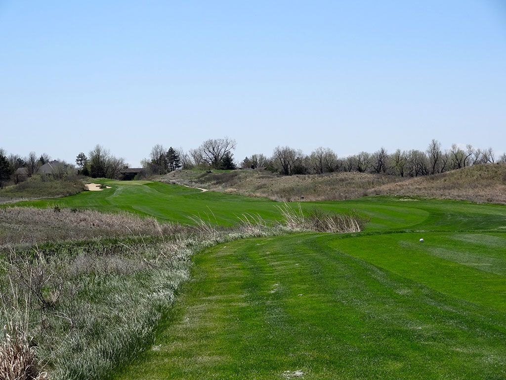 17th Hole at Prairie Dunes Country Club (519 Yard Par 5)