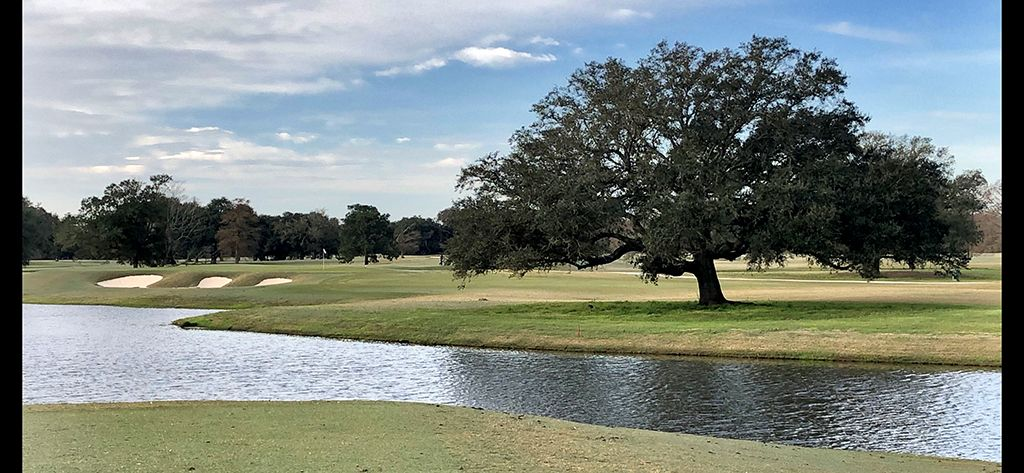 2nd Hole at Bayou Oaks City Park (South) (200 Yard Par 3)