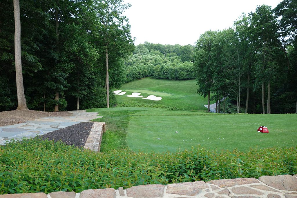 12th Hole at Caves Valley Golf Club (179 Yard Par 3)