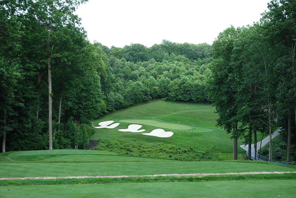 12th Hole at Caves Valley Golf Club (179 Yard Par 3)