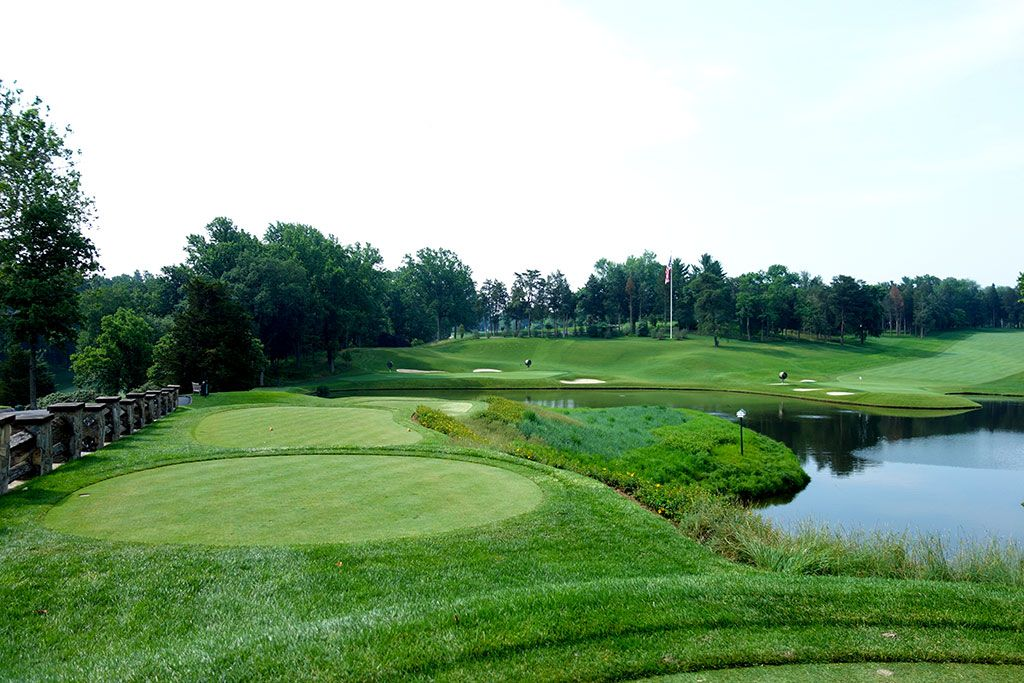 10th Hole at Congressional Country Club (Blue) (218 Yard Par 3)