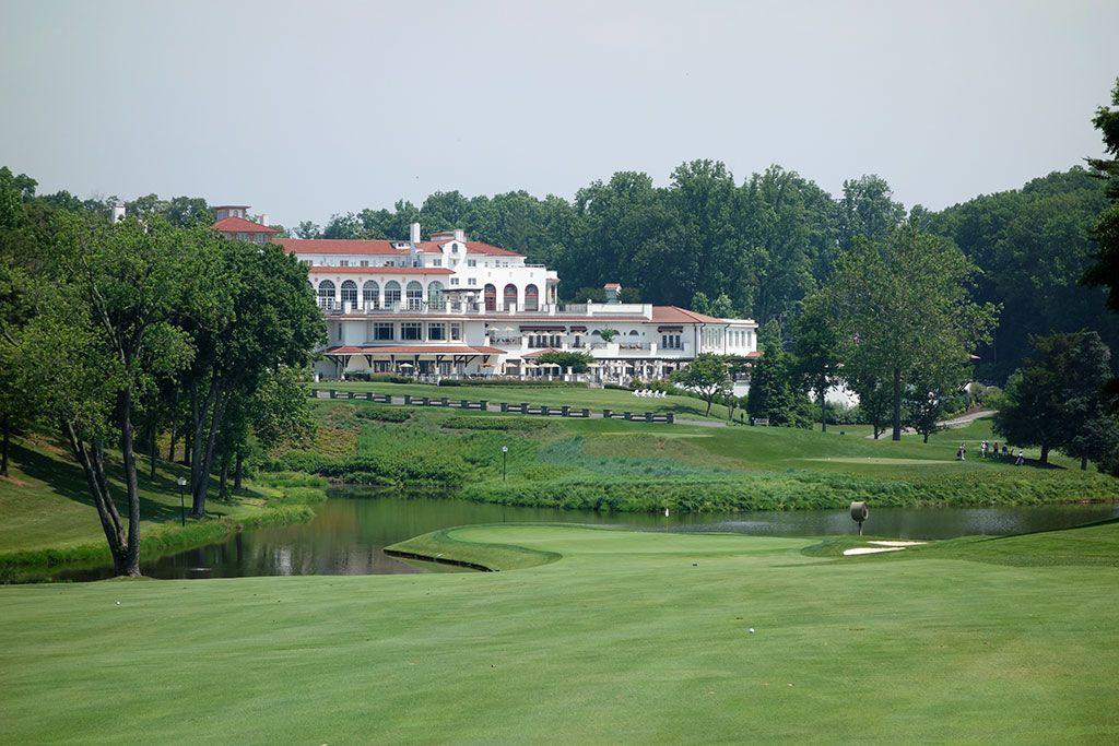 18th Hole at Congressional Country Club (Blue) (523 Yard Par 4)