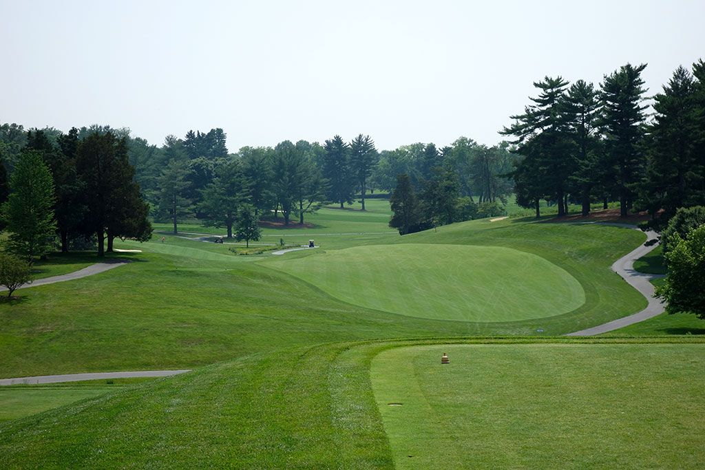 1st Hole at Congressional Country Club (Gold) (447 Yard Par 4)