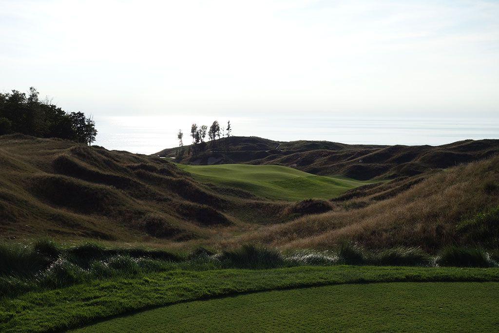 11th Hole at Arcadia Bluffs Golf Club (633 Yard Par 5)
