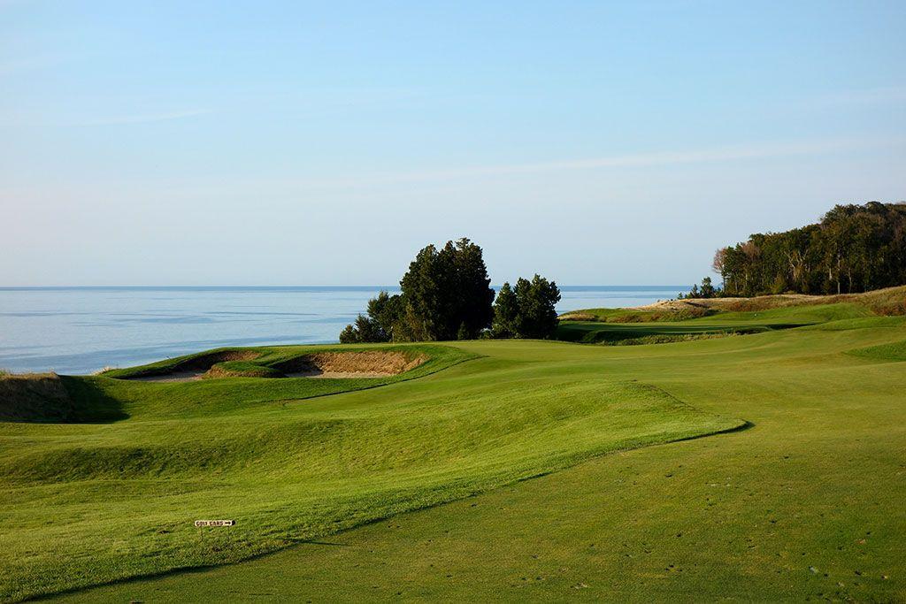 12th Hole at Arcadia Bluffs Golf Club (431 Yard Par 4)