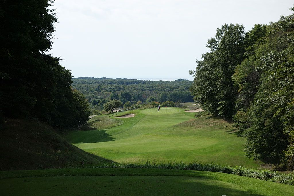 17th Hole at Crystal Downs Country Club (311 Yard Par 4)