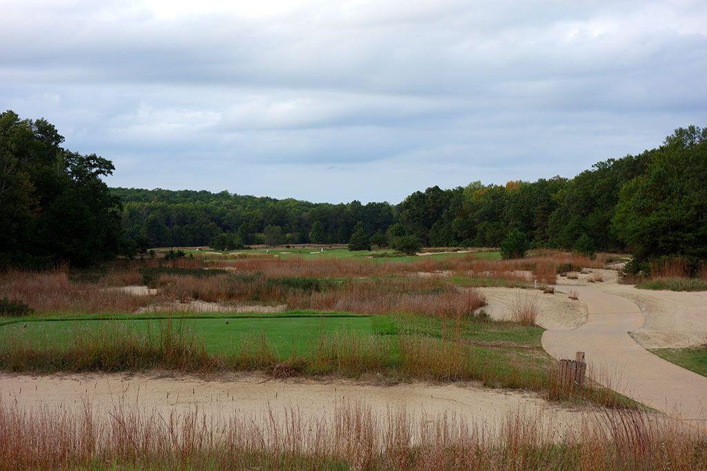 14th Hole at Forest Dunes Golf Club (464 Yard Par 4)