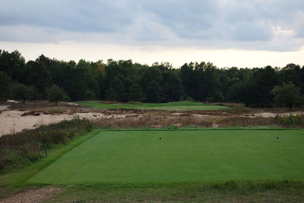 16th Hole at Forest Dunes Golf Club (233 Yard Par 3)