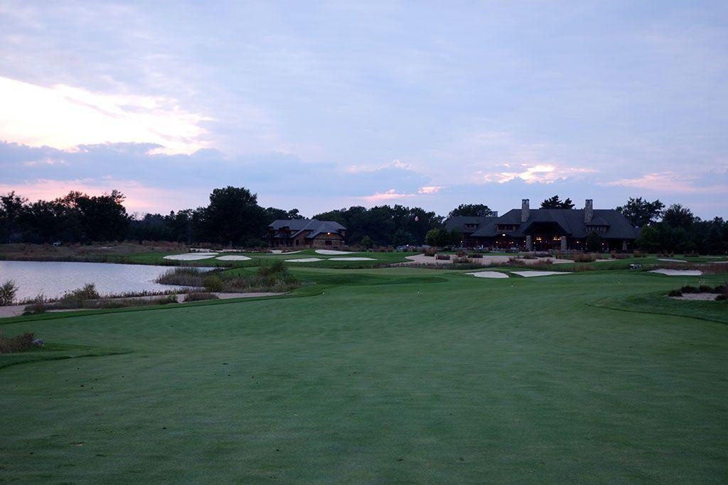18th Hole at Forest Dunes Golf Club (530 Yard Par 5)