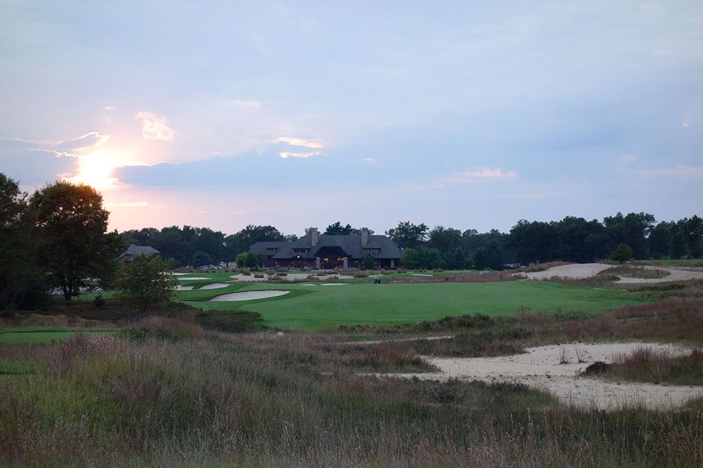 18th Hole at Forest Dunes Golf Club (530 Yard Par 5)