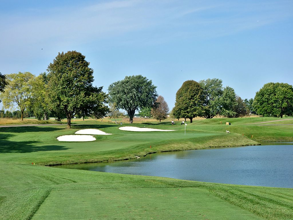 8th Hole at Hazeltine National Golf Club (166 Yard Par 3)