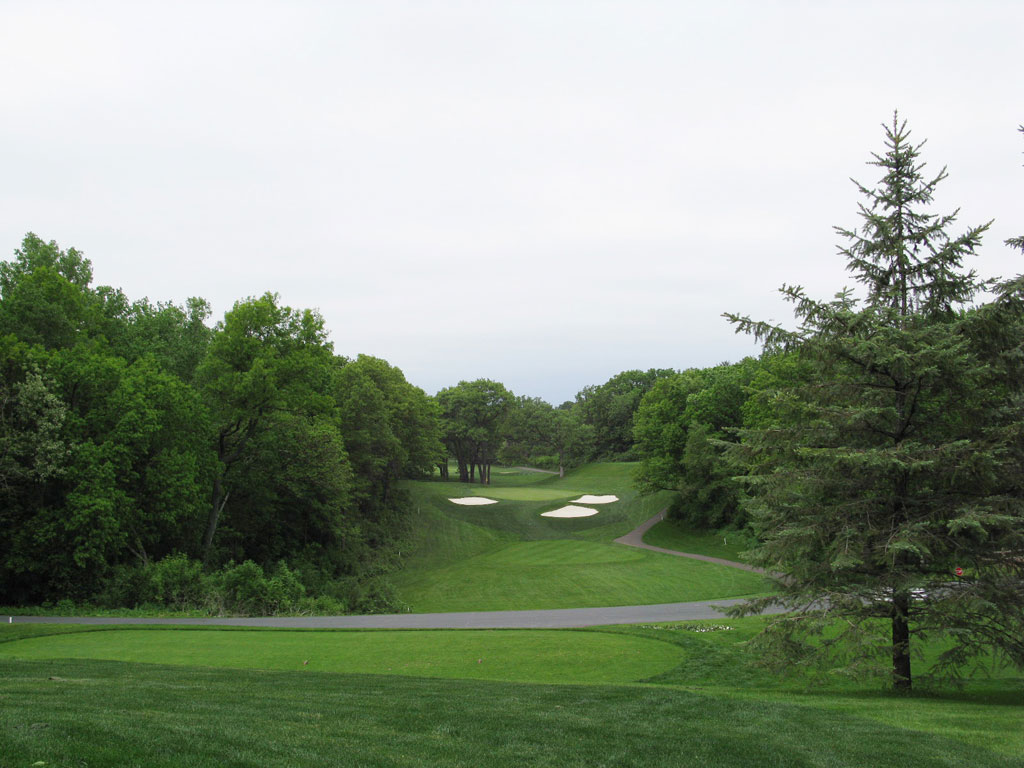 5th Hole at North Oaks Golf Club (462 Yard Par 4)