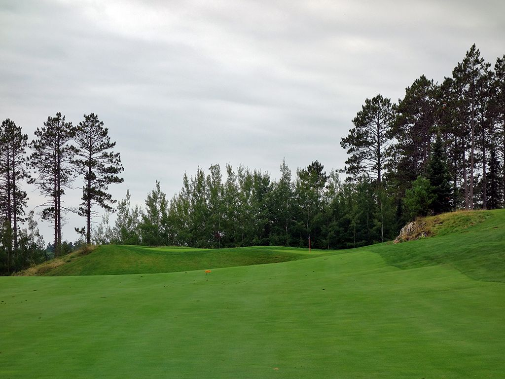16th Hole at The Wilderness at Fortune Bay (540 Yard Par 5)