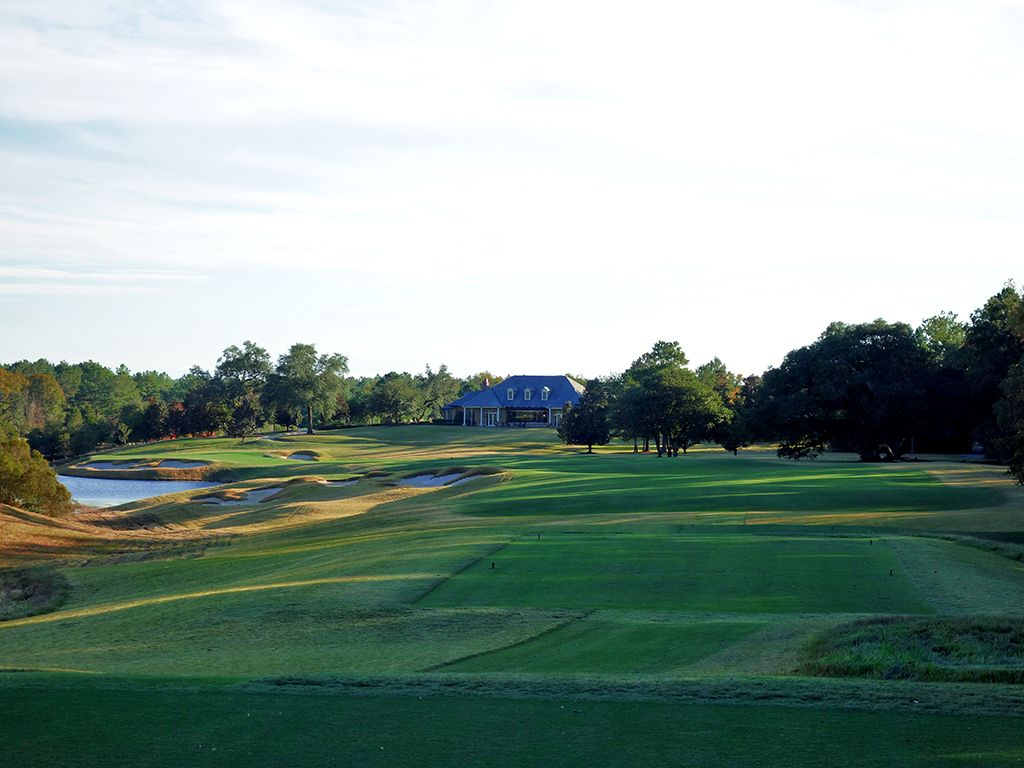18th Hole at Fallen Oak Golf Club (493 Yard Par 4)